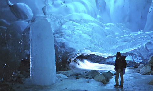 An Alaska Ice Cave - One of the many available land excursions available